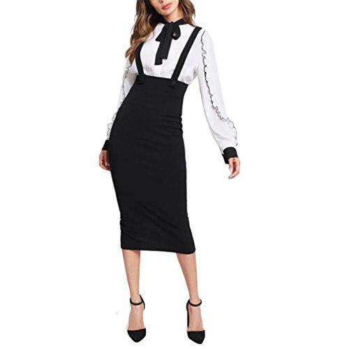 Taille Haute Slit Back Jupe Crayon avec Sangle Longueur au Genou Noir Plaine Zipper Jupe Femmes lgante Jupe d'hiver Black