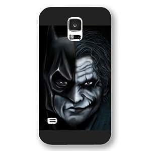 UniqueBox - Customized Personalized Black Frosted Samsung Galaxy S5 Case, The Joker, Batman Logo, Batman Samsung S5 case, Only fit Samsung Galaxy S5