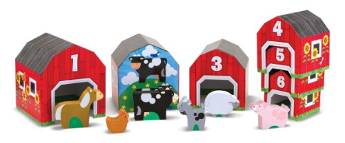 Melissa & Doug Nesting and Sorting Barns and