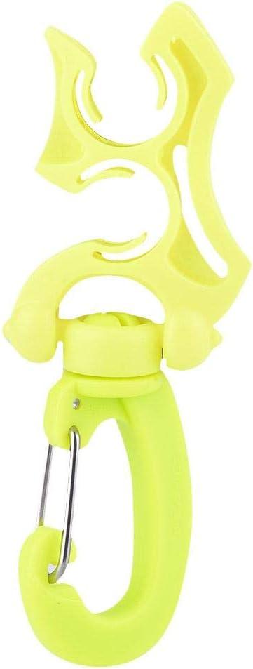 Soporte Pl/ástico de Manguera BCD con Gancho de Clip para Buceo Snorkeling Keenso Soporte de Manguera Doble BCD de Buceo con Clip