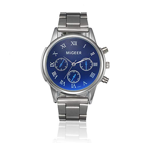 Unisex Minimalist Business Analog Stainless Steel Quartz Wristwatch Simple ()