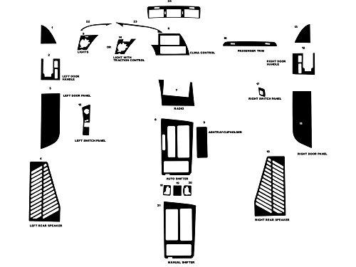 - Rdash Dash Kit Decal Trim for Chevrolet Corvette 1990-1993 - Wood Grain (Burlwood Dark)