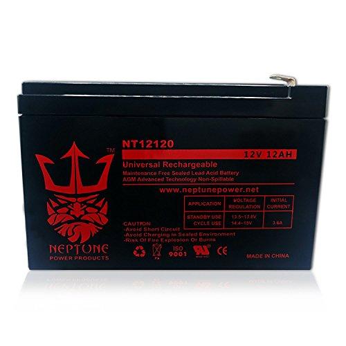 Neptune 12V 12Ah NT-12120 Rechargeable SLA Sealed Lead Acid Battery by Neptune