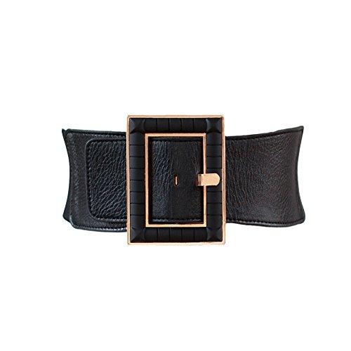 - High Waist Elastic Wide Stretch Belt Cinch Dress Belt for Women