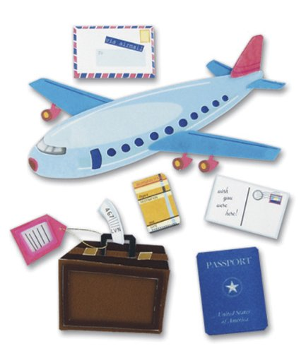 Jolees Boutique Dimensional Stickers, Airplane ()