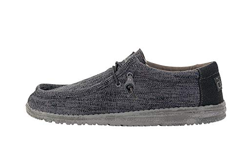 Hey Dude Men's Wally Woven Carbone, Size - Free Ship 11 Shoes