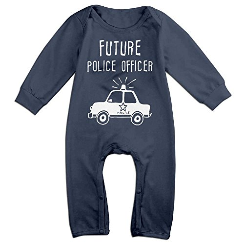 Police Officer Newborn Costumes (Future Police Officer Newborn Baby Long Sleeves Climbing Clothes Boy's & Girl's Triangle Bodysuit Size 24 Months Navy Customize)