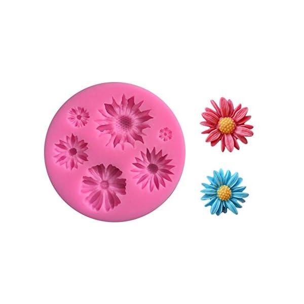 Hacoly Stampo in silicone a forma di girasole, per torte, biscotti, mould, cioccolato, sapone fatto a mano, gelato… 5 spesavip