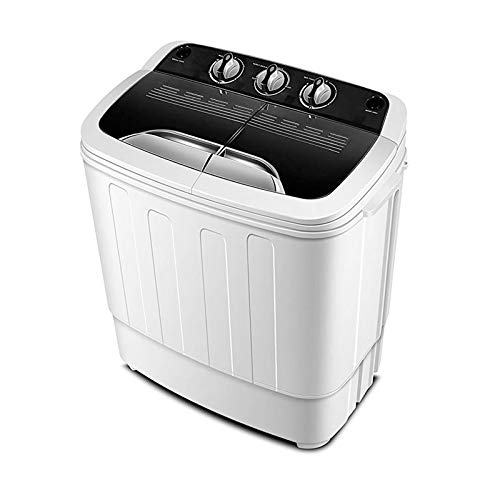 Do mini Portable Compact Twin Tub 13Ibs Capacity Washing Machine and Washer Spin Dryer XPB36-1288s