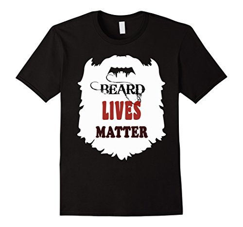 Mens beards live gift t shirts, bearded man funny b day tees hair Large Black -