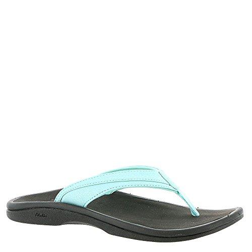 OLUKAI Women's Ohana Sandal, Sea Glass/Black, 9 M US (The Deeper The Ocean The Deeper The Pain)
