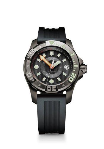 Victorinox Dive Master - Swiss Army Dive Master 500 Midsize Quartz Black PVD Steel Mens Strap Watch Calendar 241555