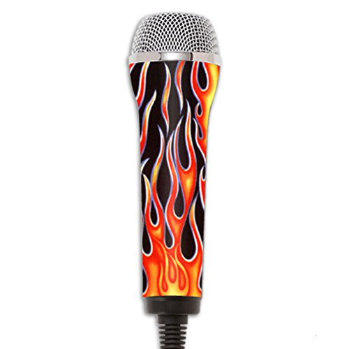 Price comparison product image MightySkins Protective Vinyl Skin Decal Compatible with Redoctane Rock Band Microphone Case wrap Cover Sticker Skins Hot Flames