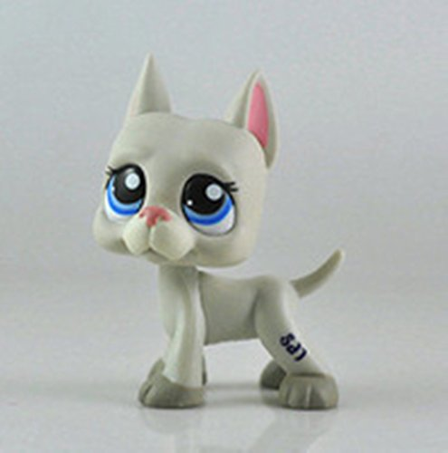 #1688 Littlest Pet Shop RARE Great Dane Dog Puppy Grey Gray