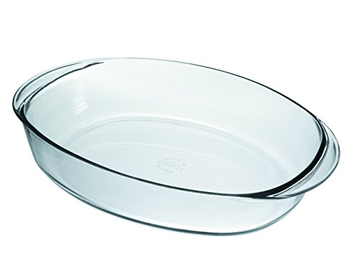 Duralex Made In France OvenChef Oval Baking Dish, 14 by 10-Inch ()