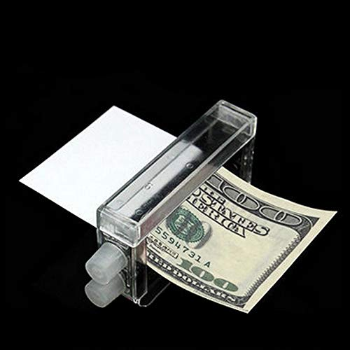 Sinwo 1 Pcs Money Printing Machine Money Maker Easy Magic Trick Toys Magician Props (Clear)