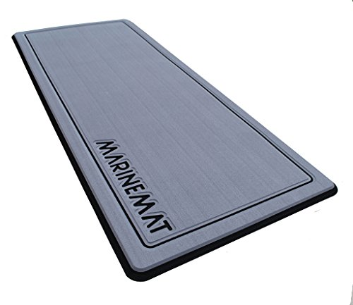 Anti-Fatigue Boat Mat by Marine Mat-New (Slate Gray/Black, Border, Large)