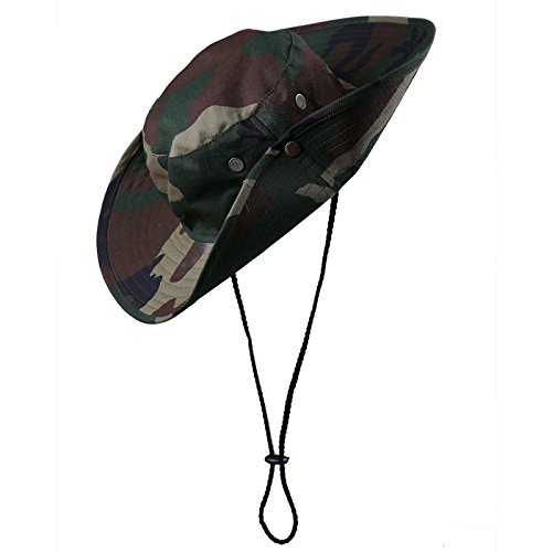 - HDE Bucket Hat Wide Brim Boonie Outdoor Sun Hats (Camo, X-Large)