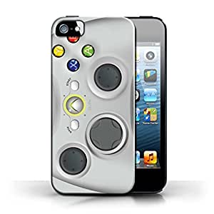 KOBALT? Protective Hard Back Phone Case / Cover for Apple iPhone 5/5S | White Xbox 360 Design | Games Console Collection