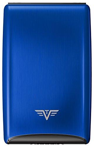 Men Holder Wallet Virtu Fan Tru For Card Silver Case Credit Card Credit Aluminium Blue qw00P5