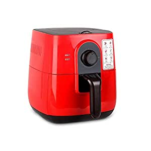 5-Star Chef 3L Air Fryer Low Fat Oil Free Rapid Deep Cooker Kitchen Recipe Red