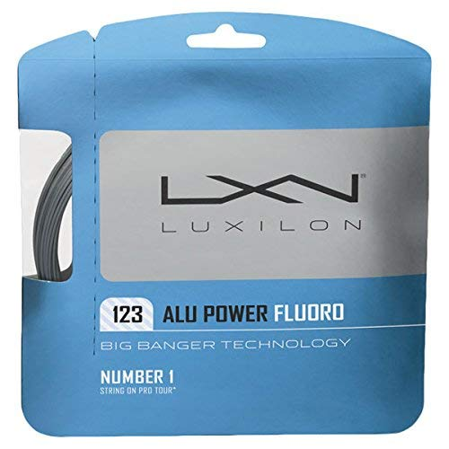 Luxilon Big Banger ALU Power Fluoro 17 Gauge - 123 Polyester (Poly) Tennis Racquet String 2-Pack (2 Sets Per ()
