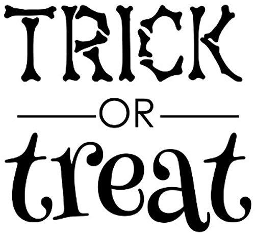 (Wall Vinyl Decal Trick Treat Halloween Sign Quote Art Homes Offices Kids Rooms Nurseries Schools Schools Colleges Universities)