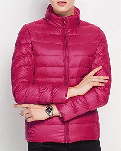 Trendy Quilting avec Assez Dame Battercake Manches Fermeture Hiver Longues Femme Automne Unicolore Doudoune Blouson Casual qq41Rg