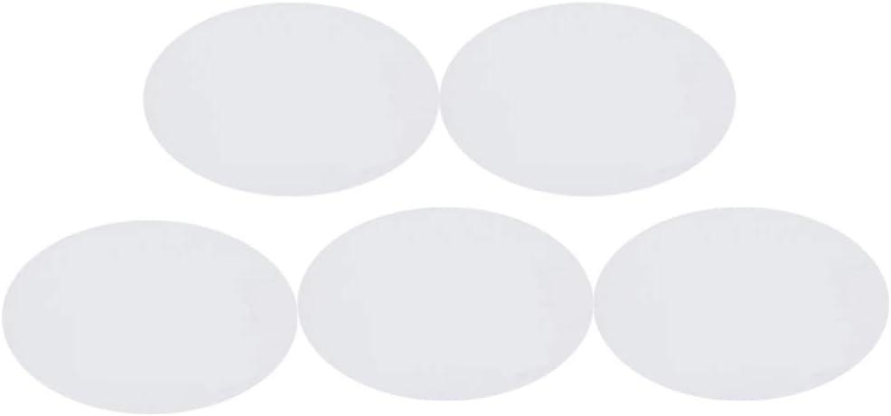 EXCEART 5 Pezzi di Pannelli di Tela per Dipingere Quadri di Forma Ovale Dipinti su Tela Acrilica 12X15 7