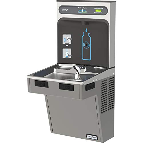- Water Cooler W/HydroBoost Water Refilling Station, Light Gray