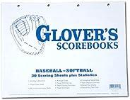Glover's Scorebooks Baseball/Softball Scoring and Stats Sheets, 30-G