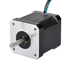 STEPPERONLINE 0.9deg Nema 17 Stepper Motor Bipolar 2A 46Ncm/65oz.in 42x42x48mm 4-wires DIY CNC by STEPPERONLINE