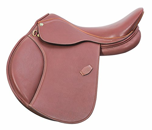 Henri de Rivel Pro A/O English Saddle | Horse Riding Equestrian Saddle - Oak Bark Smooth - 17.5 Regular Extra Long Flap
