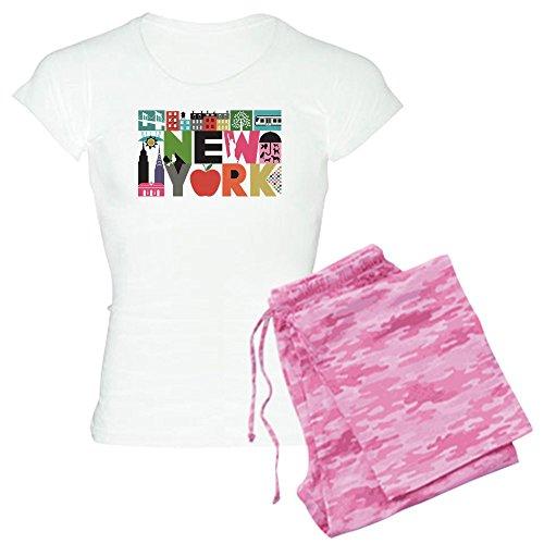 Unique Pajamas For Women (CafePress Unique New York Block by Block Pajamas Womens Novelty Cotton Pajama Set, Comfortable PJ)
