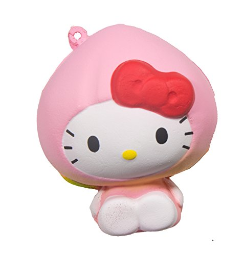 Sanrio Licensed Hello Kitty Fruits Market Squishy Hello Kitty In A Peach Costume