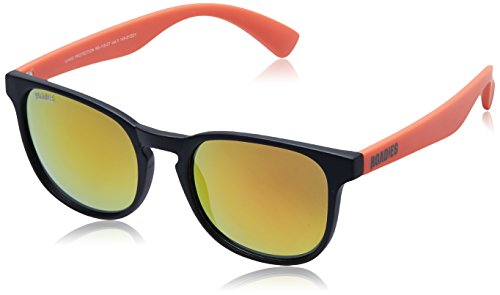 MTV Roadies Wayfarer Sunglass (Matte Black and Orange) (RD-115-C7)