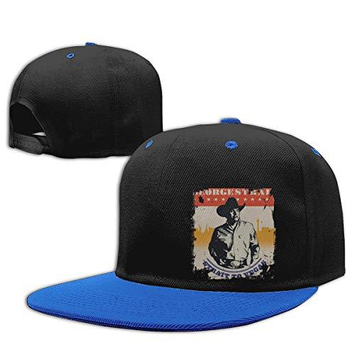 LEILEer George Strait Unisex Contrast Hip Hop Baseball Cap Blue]()