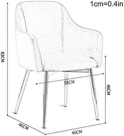 HTL Chaises de Bureau Salle À Manger Table Chaises Velours Vert Tissu Seat, Accent Side Chair Guest Chair Pour Café Cuisine Salle À Manger Salon, Pieds En Métal