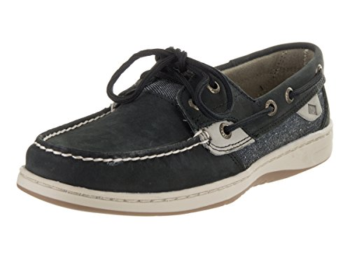 Sperry Top-sider Womens Bluefish Boat Scarpa Nero Grigio