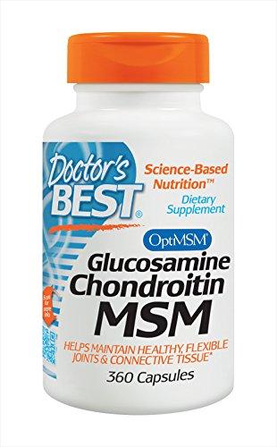 Doctors Best Glucosamine Chondroitin MSM, 1er Pack (1 x 360 Stück)