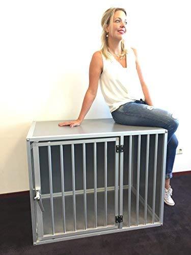 Perros Box m3tl l106 cm aluminio Top calidad perro jaula ...