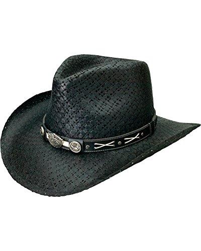 Jack Daniels Men's Daniel's Soft Toyo Straw Cowboy Hat Bl...