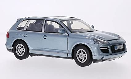 Porsche Cayenne Turbo, metallic-light blue, Model Car, Ready-made,