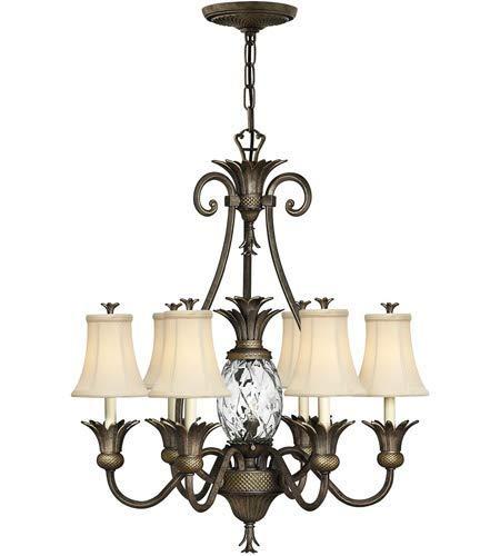 Pendants 7 Light Fixtures with Pearl Bronze Finish Cast Aluminum Material Candelabra 28