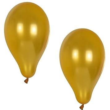 10 Luftballons Gold D25cm Goldene Hochzeit Deko