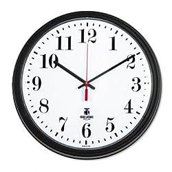 Chicago Lighthouse Black Quartz CONTRACT Clock CLOCK,TRADTNL,13.75,BK (Pack of3)
