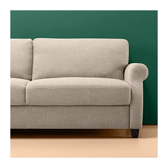Zinus Josh, Sofa, Beige - Easily assembles with a friend, no tools needed, in under 20 minutes Stress free fabrics were chosen to be durable and easy to clean 77.5 inches long with traditional Styling - sofas-couches, living-room-furniture, living-room - 41nAyfAXvHL. SS570  -