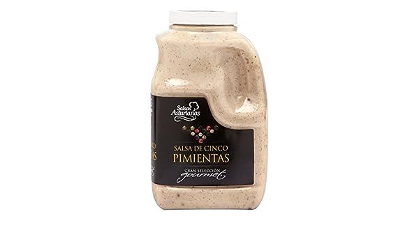 Salsas Asturianas Salsa Cinco Pimientas - 1000 gr: Amazon.es: Alimentación y bebidas