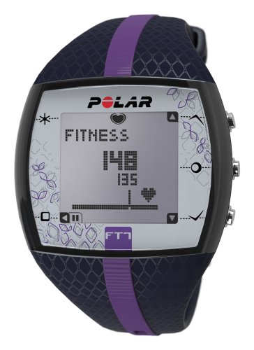 Polar FT7 Heart Rate Monitor Workout Watch, Blue/Lilac (Heart 123)