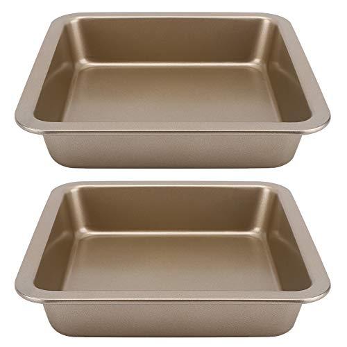 22x22x4.6 cm Bakblik 2 Stuks Vierkante Taart Pan Koolstofstaal Bakvorm Taart Bakvormen Non-stick Bakplaat Kaas Cake…